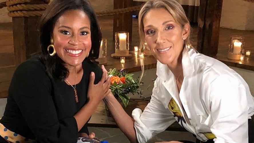 Avec la présentatrice de Today Sheinelle Jones