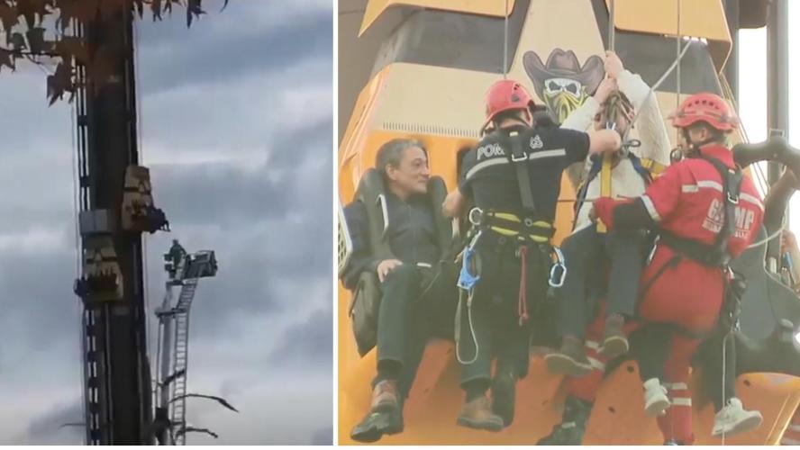 Quatre touristes coincés dans un manège pendant plus de trois heures — Belgique