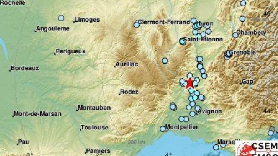 Le sud de la France frappé par un tremblement de terre de magnitude 5,4 ce lundi midi