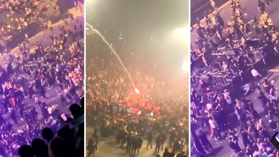 Des supporters du PSG attaquent des fans de l'OM — Concert de Jul