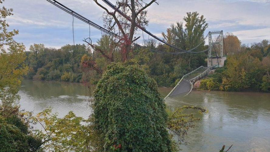OCCITANIE - Un pont suspendu s'effondre faisant plusieurs victimes
