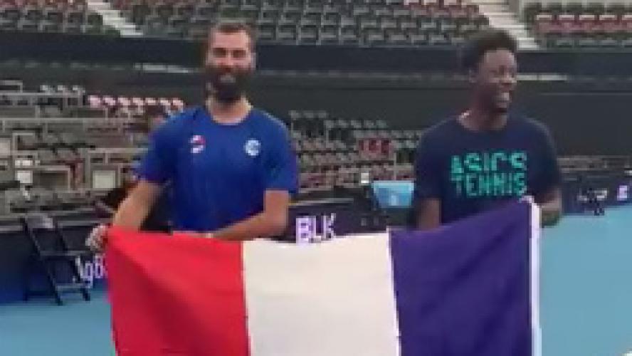 ATP Cup : bien lancés, les Bleus dominent le Chili
