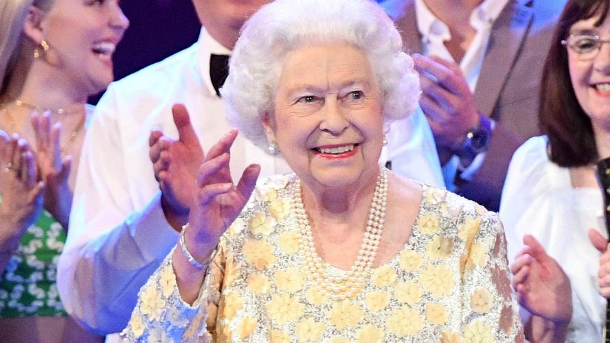 La reine d'Angleterre pose avec ses héritiers