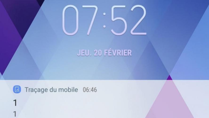 Traçage du mobile Samsung réagit après les notifications reçues par de nombreux utilisateurs