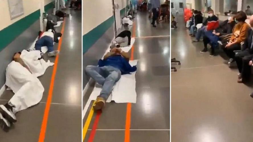 Coronavirus: la situation en Espagne est catastrophique, des patients doivent s'allonger par terre dans les couloirs des hôpitaux! (vidéo)