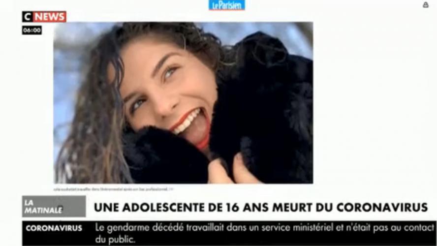 Julie, 16 ans, morte du coronavirus en France: «Elle avait juste une toux», déplore la maman de ...