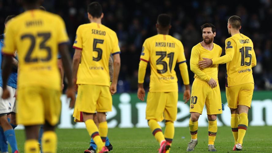 Foot: les joueurs du Barça cèdent 70% de leurs salaires