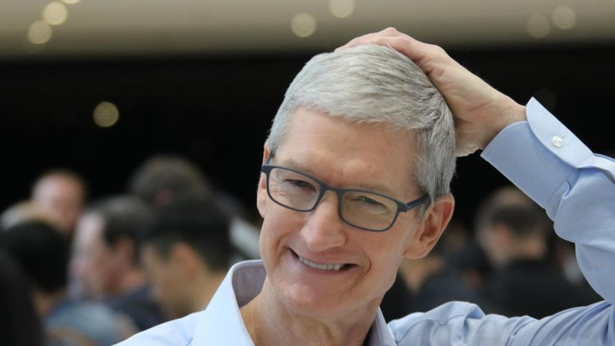 Tim Cook le patron d'Apple a annoncé le conception de masques