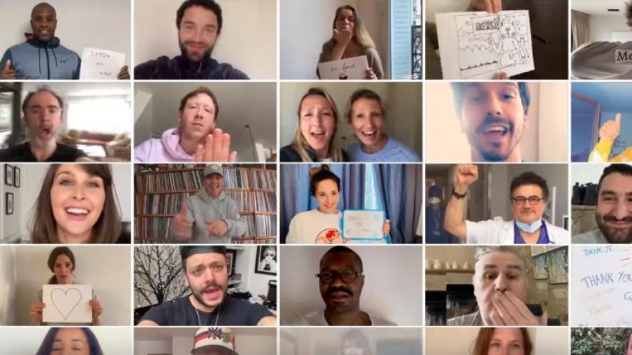 350 personnalités chantent à l'unisson pour soutenir les hôpitaux —