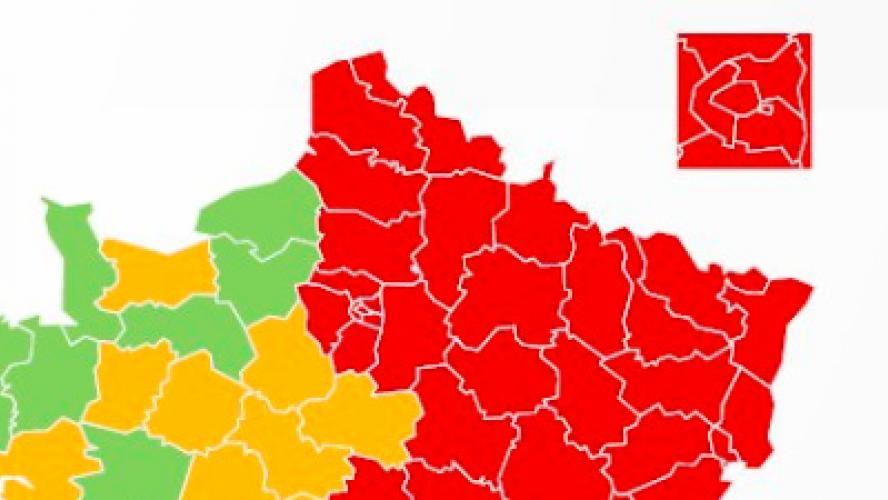 Voici La Premiere Carte Coronavirus Du Gouvernement Francais Tous Les Departements Frontaliers De La