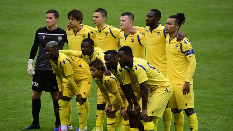 L'équipe de Saint-Trond lors de son dernier match amical