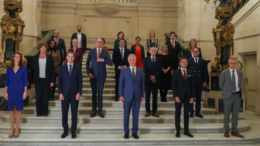 Gouvernement Vivaldi Les Ministres Du Nouveau Gouvernement Ont Prete Serment Photos