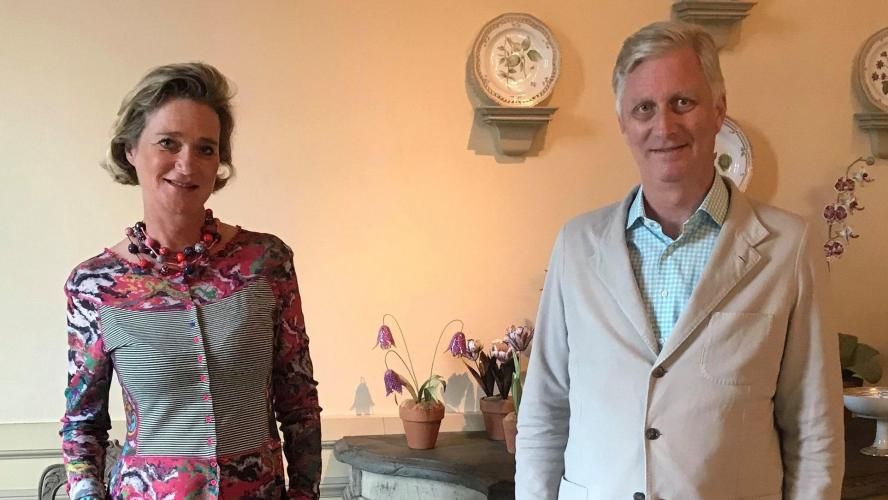 Le roi Philippe et la Princesse Delphine se sont rencontrés pour la première fois au Château de Laeken