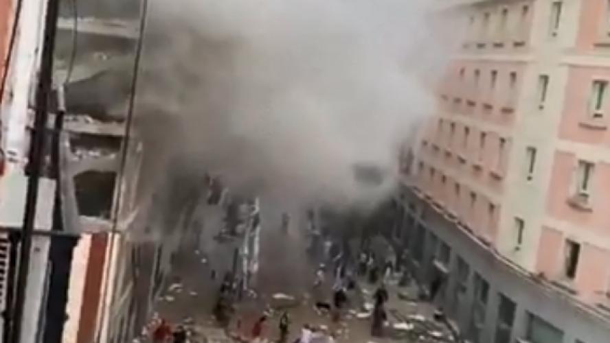 Forte explosion dans le centre de Madrid : au moins deux morts