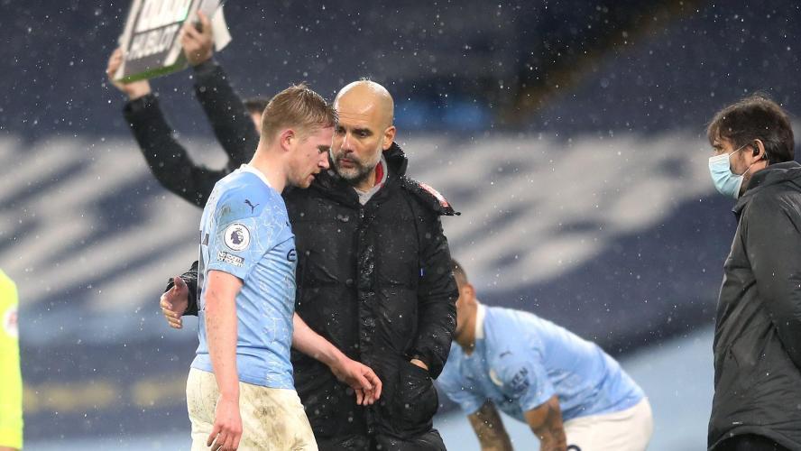 Kevin De Bruyne (Manchester City) absent entre 4 et 6 semaines