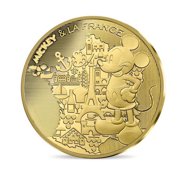 Des pièces de monnaie à l'effigie de Mickey