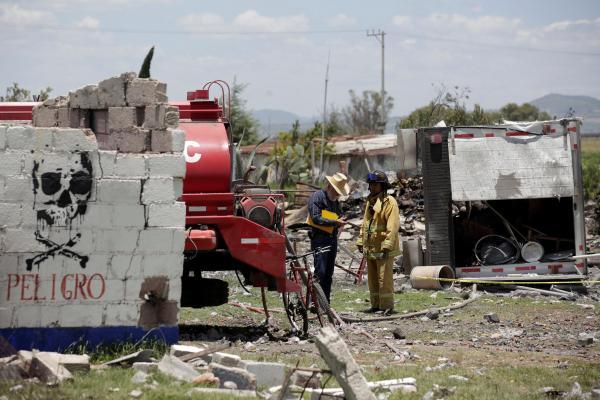 Mexique: 12 morts dans l'explosion d'un entrepôt de feux d'artifice